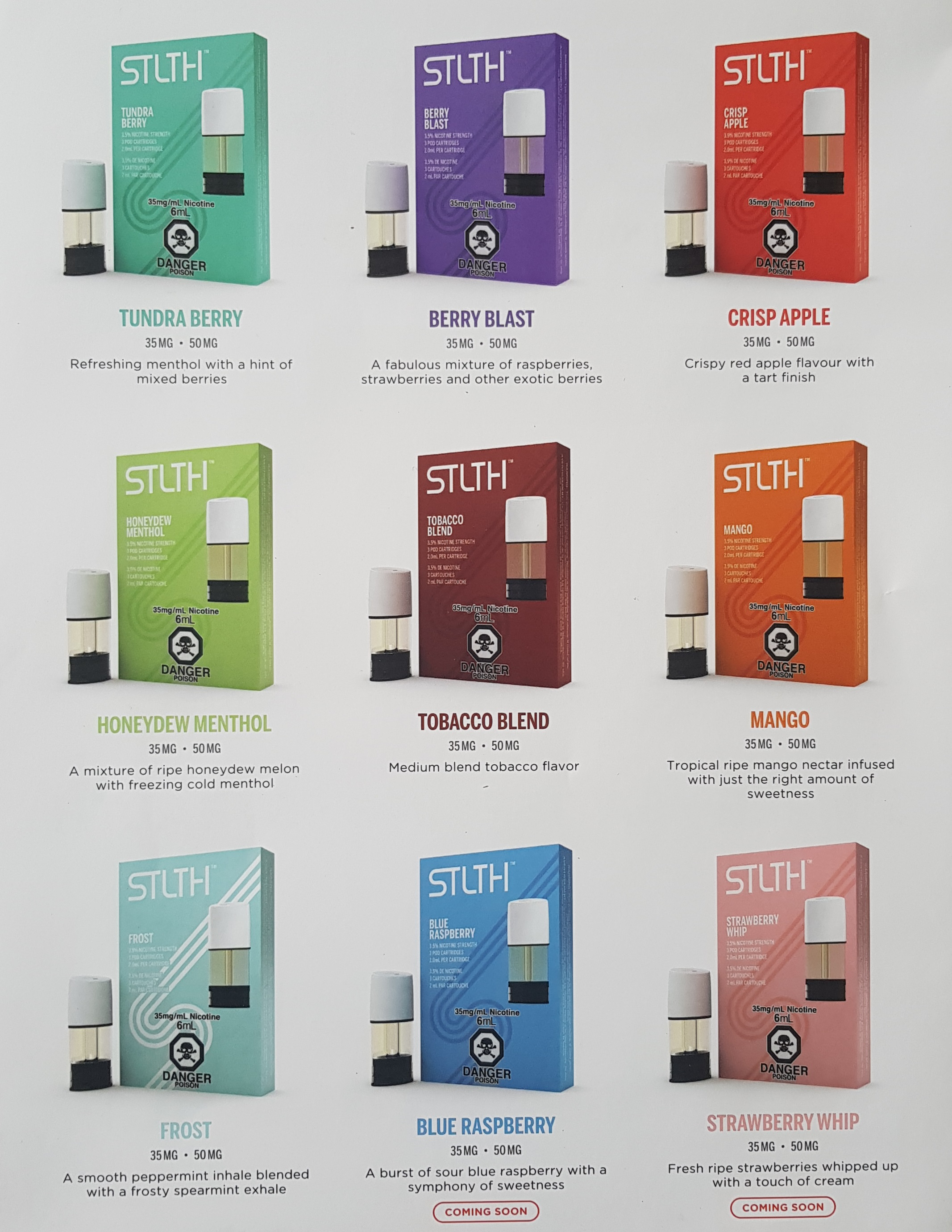 Stlth Pod Flavors Capital Vape & Cigar Edmonton Ab