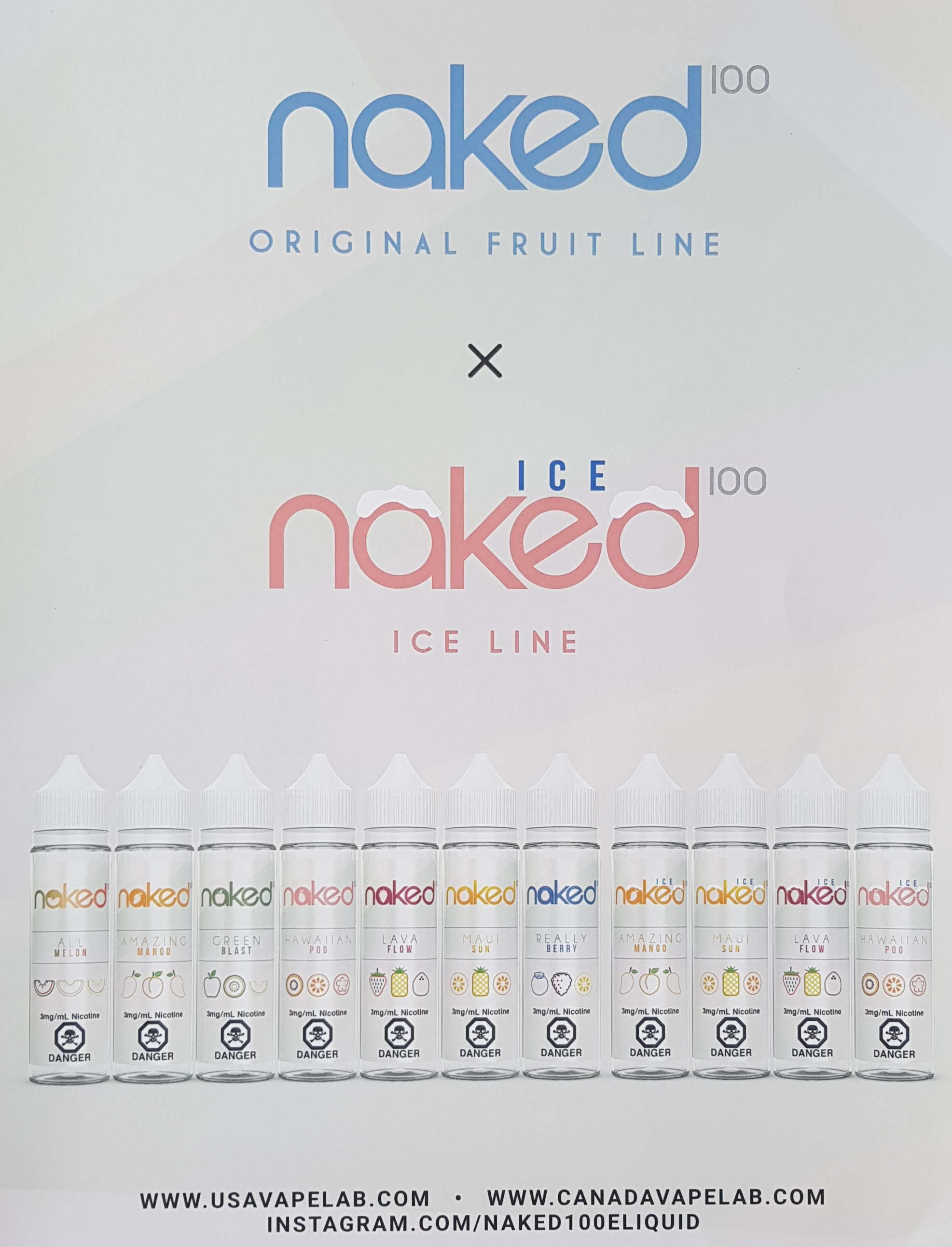 Naked100 Fruit Line Capital Vape & Cigar Edmonton Ab