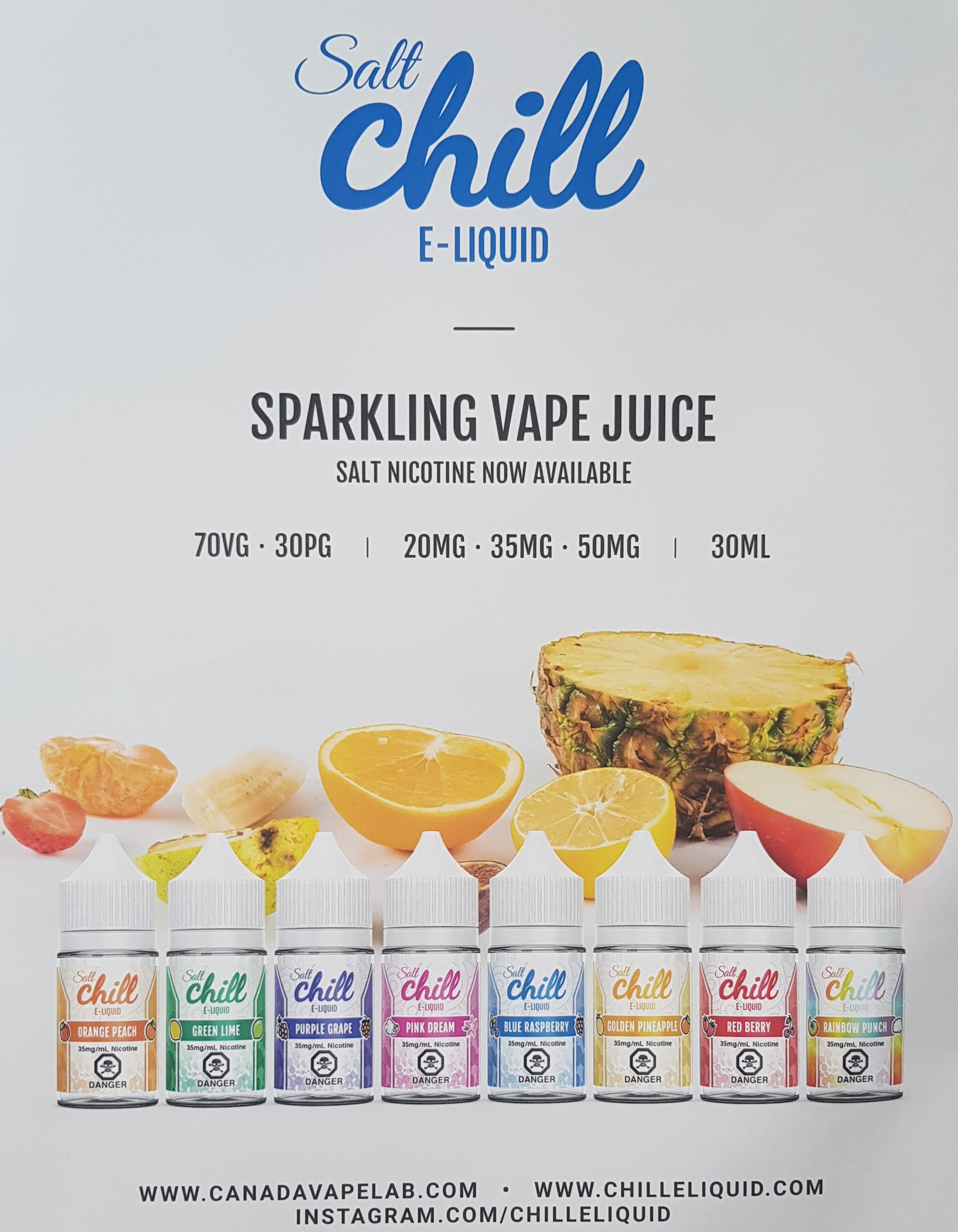 Salt Chill e-liquid Capital Vape & Cigar Edmonton Ab