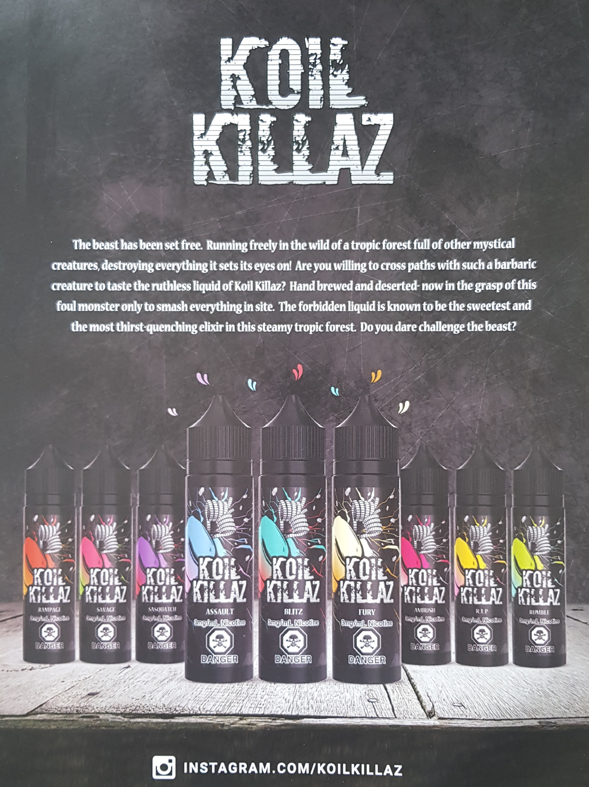 Koil Killaz ad Capital Vape & Cigar Edmonton Ab